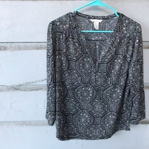 🌟3 for $15 || H&M || Henley Blouse